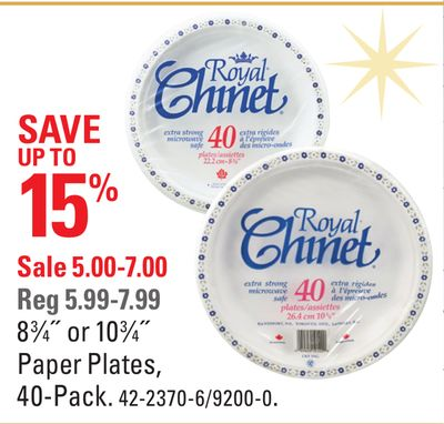 8 3?4? or 10 3?4? Paper Plates - 40-pack