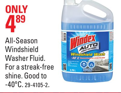 All-season Windshield Washer Fluid
