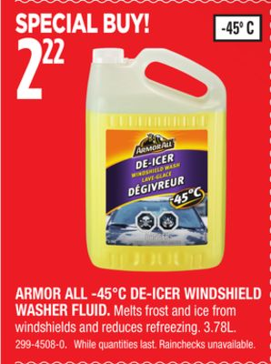 Armor All -45°c De-icer Windshield Washer Fluid