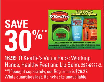 O'keeffe's Value Pack: Working Hands - Healthy Feet and Lip Balm