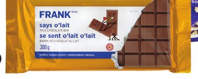 Frank Milk Chocolate - 300g