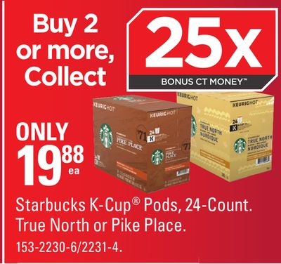 Starbucks K-cup Pods - 24-count