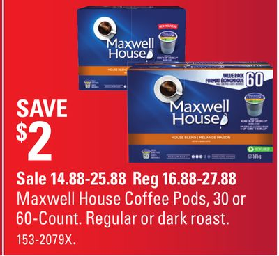 Maxwell House Coffee Pods - 30 or 60-count
