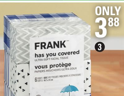 Frank Soft & Strong Facial Tissue - 6 Pk.