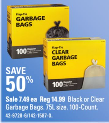 Black or Clear Garbage Bags