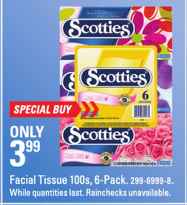 Facial Tissue 100s - 6-pack