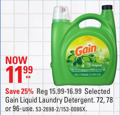 Selected Gain Liquid Laundry Detergent