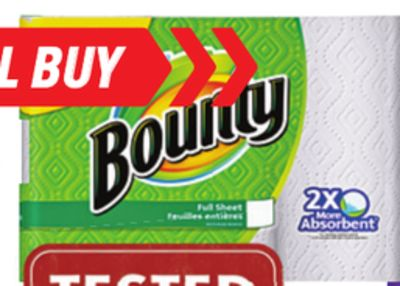 Selected Bounty Paper Towels