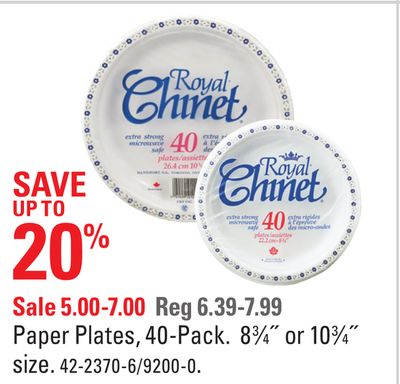 Paper Plates - 40-pack