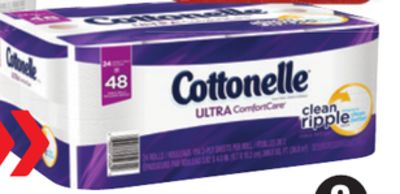 Cottonelle Ultra or Clean Care Bathroom Tissue - 24 Double Rolls