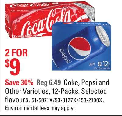 Coke - Pepsi and Other Varieties - 12-packs