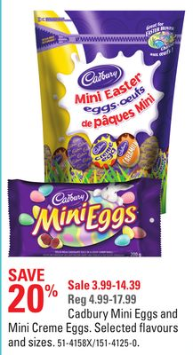 Cadbury Mini Eggs and Mini Creme Eggs
