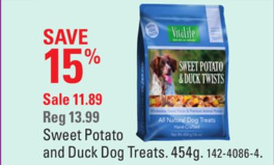 Sweet Potato and Duck Dog Treats