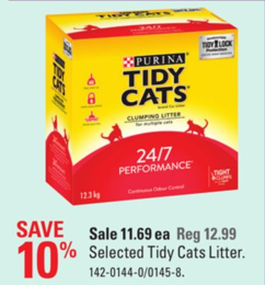 Selected Tidy Cats Litter