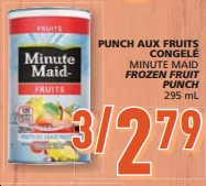 minute maid fruit punch dry fruits