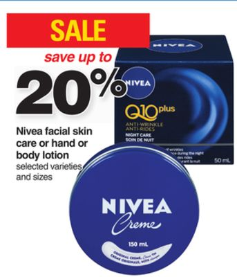 Nivea Facial Skin Care Or Hand Or Body Lotion