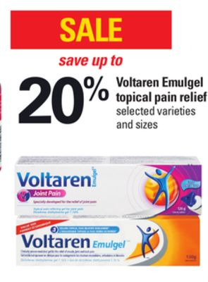 Voltaren Emulgel Topical Pain Relief