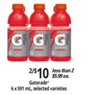 Gatorade - 6 X 591 Ml