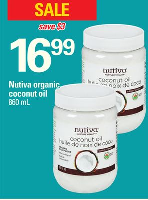 Nutiva Organic Coconut Oil - 860 mL