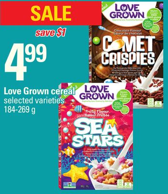 Love Grown Cereal - 184-269 g