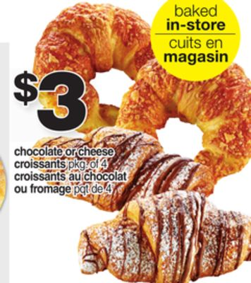Chocolate Or Cheese Croissants - Pkg Of 4