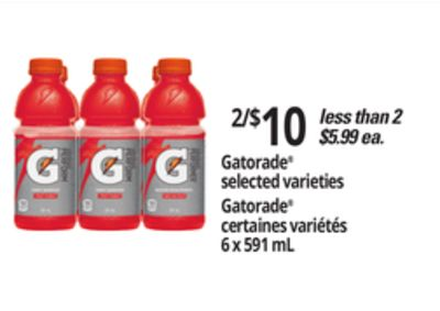 Gatorade 6 X 591 Ml