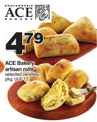 Ace Bakery Artisan Rolls - Pkg of 6-12