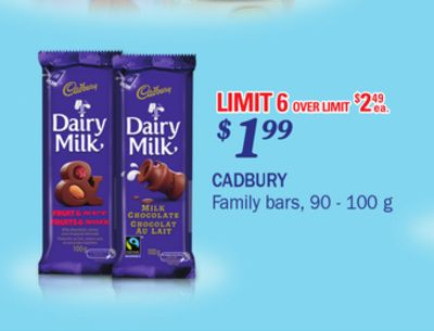 Cadbury Family Bars - 90-100g