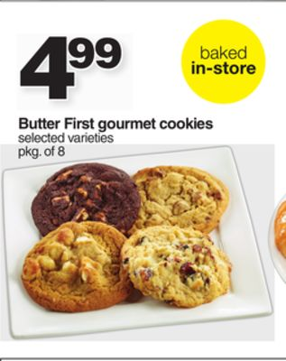 Butter First Gourmet Cookies - Pkg of 8