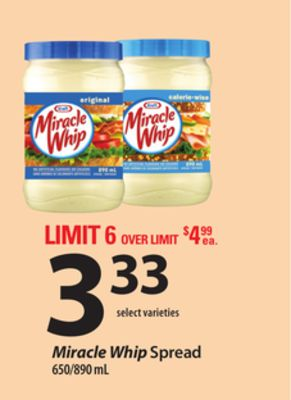 Miracle Whip Spread - 650/890 Ml