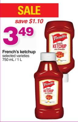 French's Ketchup - 750 mL / 1 L
