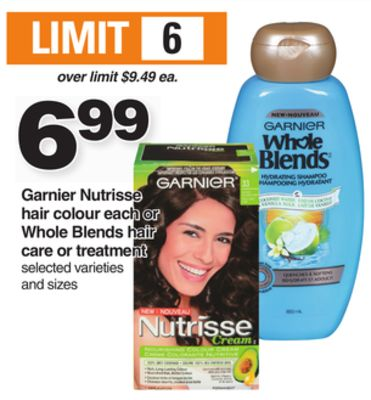 Garnier Nutrisse Hair Colour Each Or Whole Blends Hair Care Or Treatment