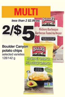 Boulder Canyon Potato Chips - 128/142 g