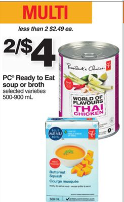 PC Ready To Eat Soup Or Broth - 500-900 mL