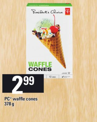 PC Waffle Cones - 378 g