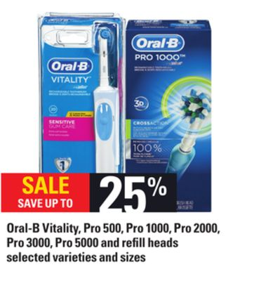 Oral-b Vitality - Pro 500 - Pro 1000 - Pro 2000 - Pro 3000 - Pro 5000 And Refill Heads
