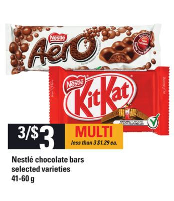 Nestlé Chocolate Bars - 41-60 g