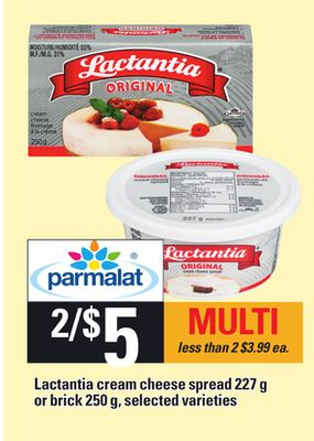 Lactantia Cream Cheese Spread - 227 G Or Brick - 250 G