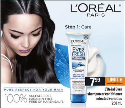 L'oréal Ever Shampoo Or Conditioner - 250 mL