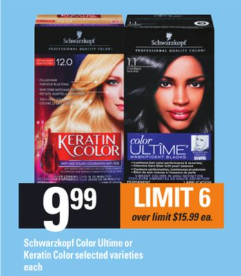 Schwarzkopf Color Ultime Or Keratin Color