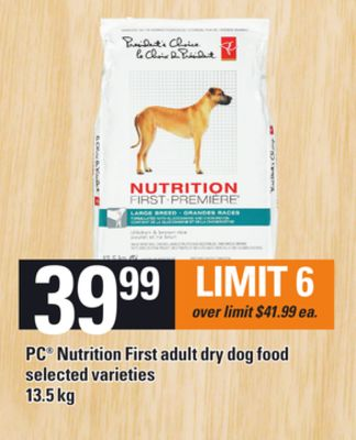 PC Nutrition First Adult Dry Dog Food - 13.5 Kg