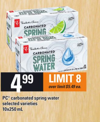 PC Carbonated Spring Water - 10x250 mL