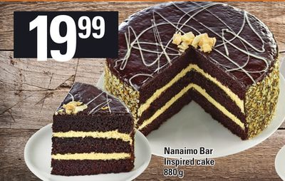 Nanaimo Bar Inspired Cake - 880 g