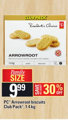 PC Arrowroot Biscuits - 1.4 Kg
