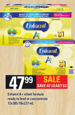 Enfamil A+ Infant Formula Ready To Feed Or Concentrate - 12x385/18x237 mL