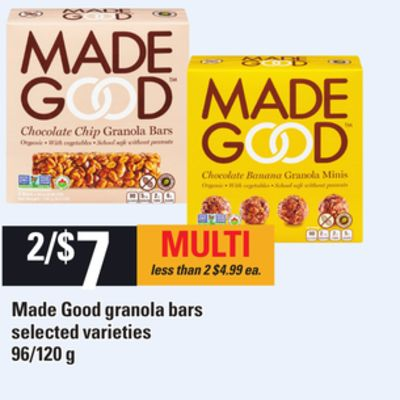 Made Good Granola Bars - 96/120 g