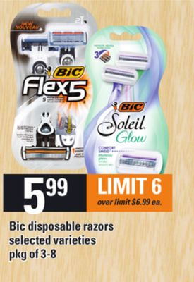 Bic Disposable Razors - Pkg of 3-8