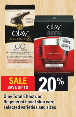 Olay Total Effects Or Regenerist Facial Skin Care