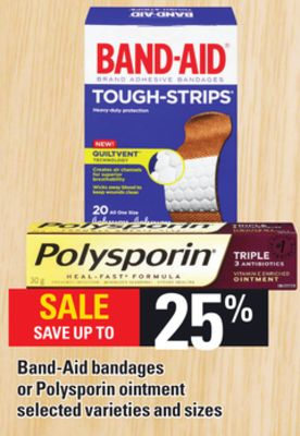 Band-aid Bandages Or Polysporin Ointment
