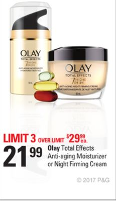 Olay Total Effects Anti-aging Moisturizer or Night Firming Cream